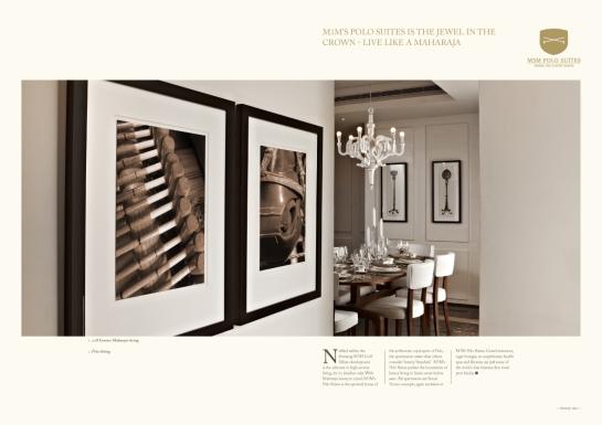 Luxury property brochure, India